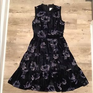 Kate Spade Night Rose Velvet Dress